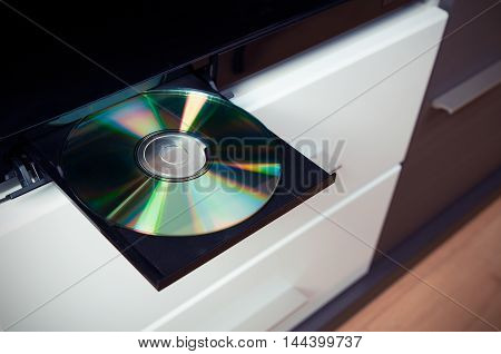 Cd Or Dvd Player With Inserted Disc