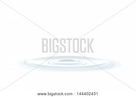 Vector rippled water circle waves on white background