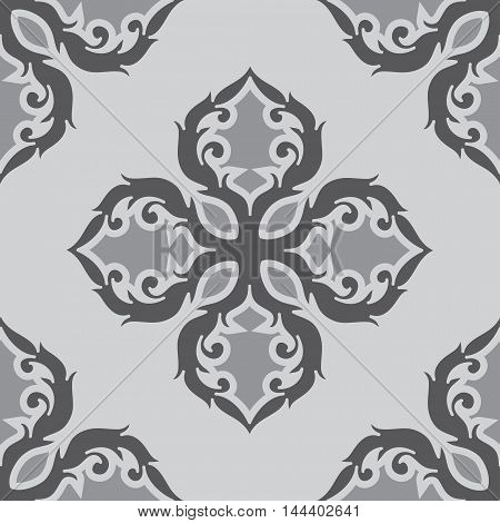 Black and white ornament pattern, flower pattern, floral pattern, black and white pattern