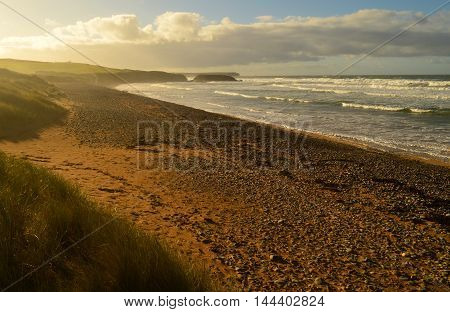 The beautiful beach of Freshwater west in Pembrokeshire south west wales.