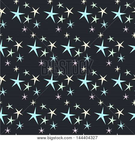 Abstract Stars Seamless Pattern Background.
