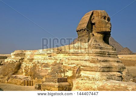 Beautiful view of Beautiful view of Sphinx, EGYPT.