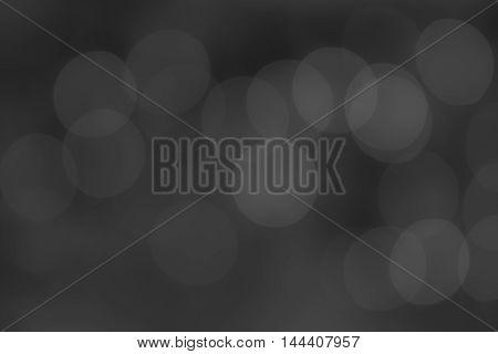 Circle bokeh abstract soft blurred background - dark tone