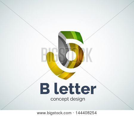 Vector letter concept logo template, abstract business icon