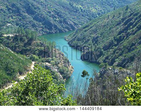 Beautiful detail of the riverside (Pedrógão Grande - Portugal)