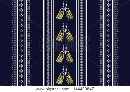 Geometric Ethnic pattern design for background or wallpaper.