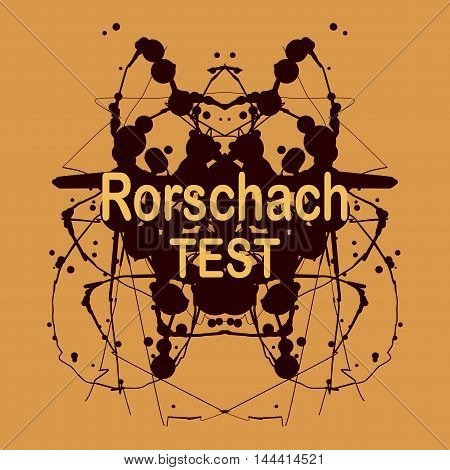 Rorschach inkblot test vector design. Psychological testing inkblot Rorschach test