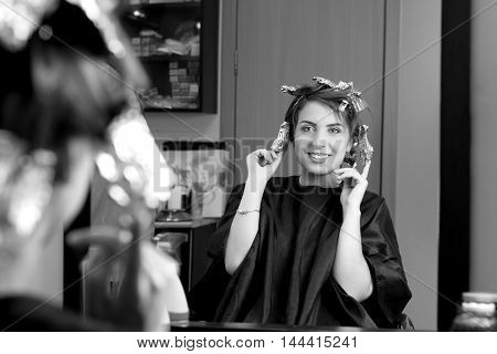 Young Girl Positive Emotions Because Of New Hair Dress