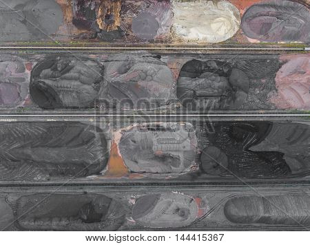 The Surface Mine Storage Place, Mining Minerals And Brown Coal In Diferent Colours. View From Above.