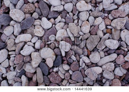 Texture made of small beach stones
