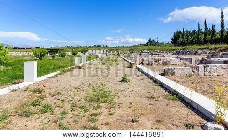 The Agora of ancient Pella, Macedonia, Greece