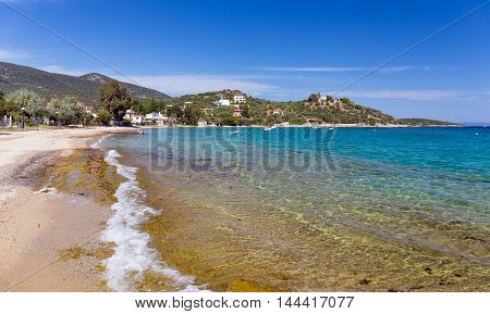 Megali Velanidia beach in Magnesia, Thessaly, Greece