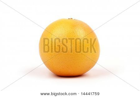 Gelben bitteren Grapefruit, isolated on white background