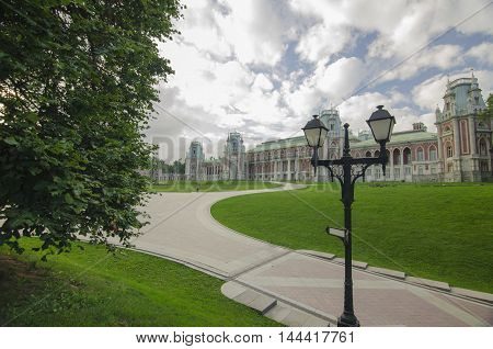 Brick Castle in Tsaritsyno park, Moscow, Russia