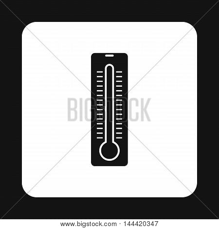 Thermometer icon in simple style isolated on white background. Measurement symbol