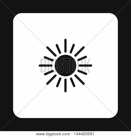 Sun icon in simple style isolated on white background. Heat symbol