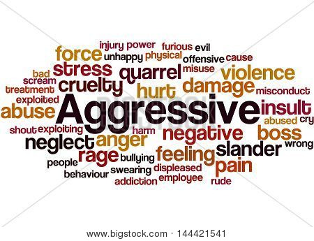 Aggressive, Word Cloud Concept 3