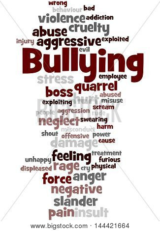 Bullying, Word Cloud Concept 2