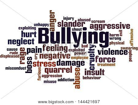 Bullying, Word Cloud Concept 5