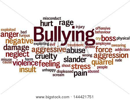 Bullying, Word Cloud Concept 8