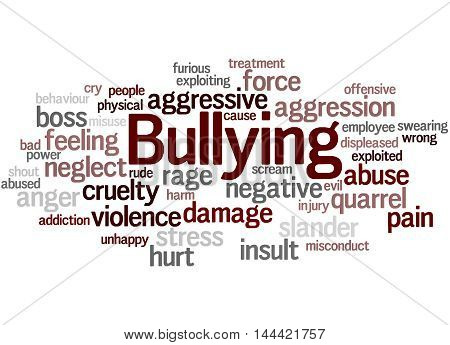 Bullying, Word Cloud Concept 9