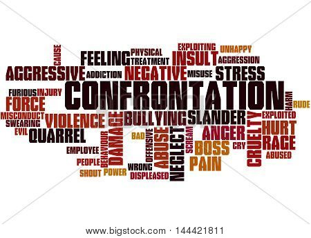 Confrontation, Word Cloud Concept 4
