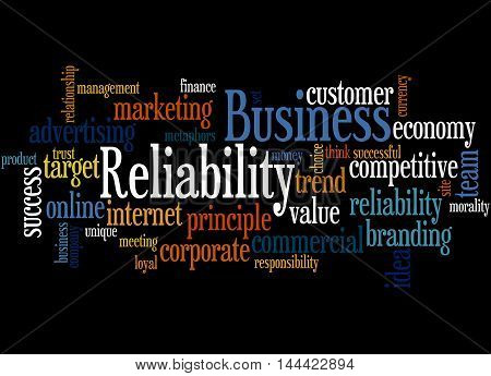 Business Reliability, Word Cloud Concept 6