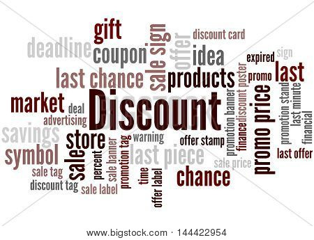 Discount, Word Cloud Concept 2