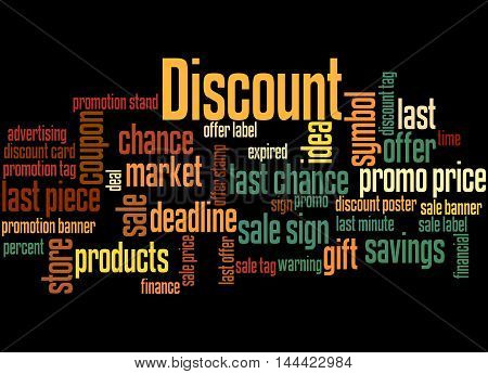 Discount, Word Cloud Concept 4