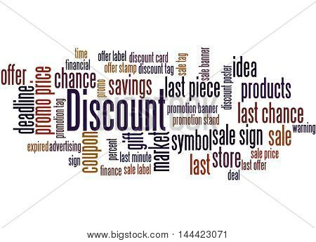 Discount, Word Cloud Concept 8