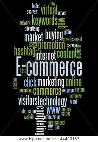 E-commerce, Word Cloud Concept 4
