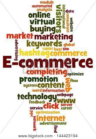 E-commerce, Word Cloud Concept 6