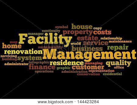 Facility Management, Word Cloud Concept 2