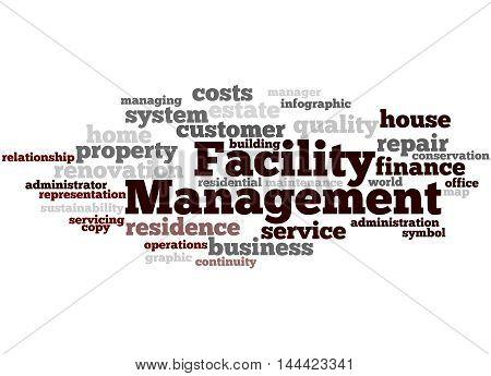 Facility Management, Word Cloud Concept 5
