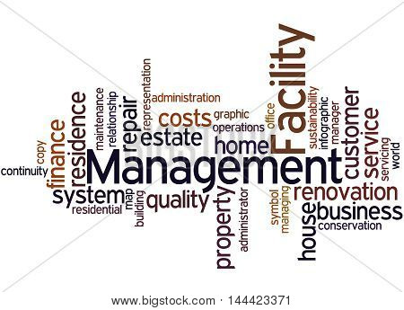 Facility Management, Word Cloud Concept 6