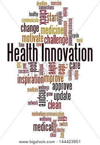 Health Innovation, Word Cloud Concept 6