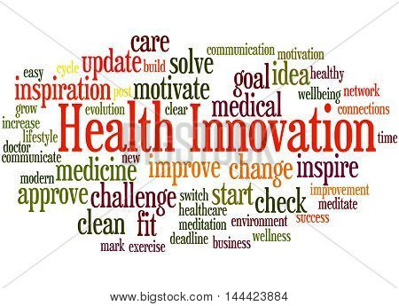 Health Innovation, Word Cloud Concept 8