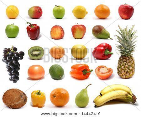Nutrición saludable aislada en blanco