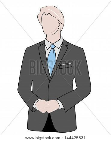 silhouette of a man in a business suit. vector illustration.