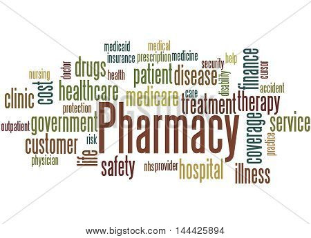 Pharmacy, Word Cloud Concept 6