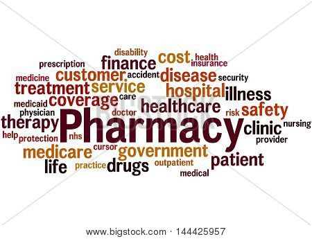 Pharmacy, Word Cloud Concept 9