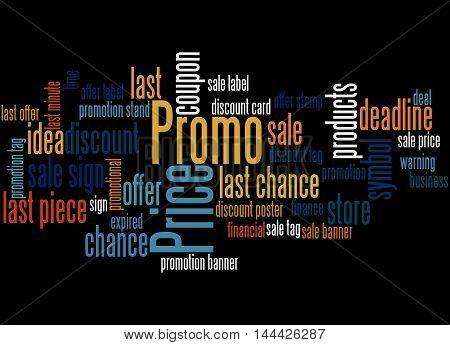 Promo Price, Word Cloud Concept 4