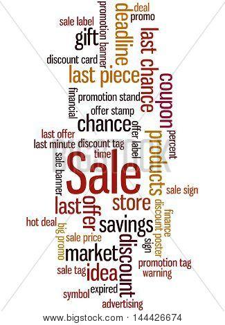 Sale, Word Cloud Concept