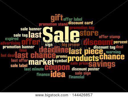 Sale, Word Cloud Concept 6