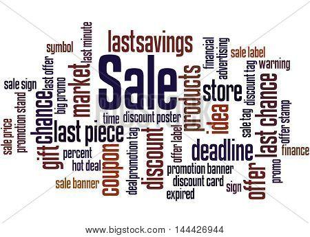 Sale, Word Cloud Concept 8