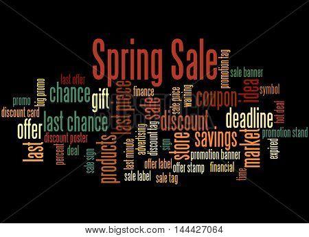 Spring Sale, Word Cloud Concept 6