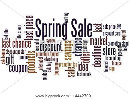 Spring Sale, Word Cloud Concept 8