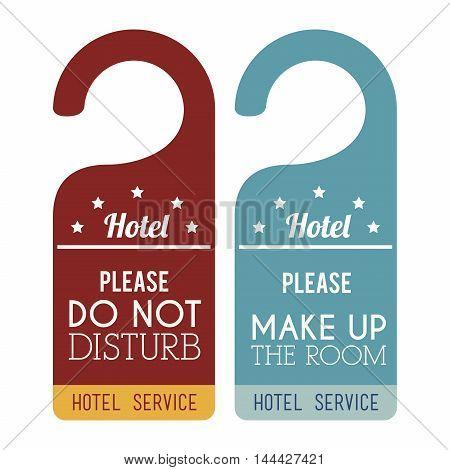 hotel service tags hanging vector illustration design