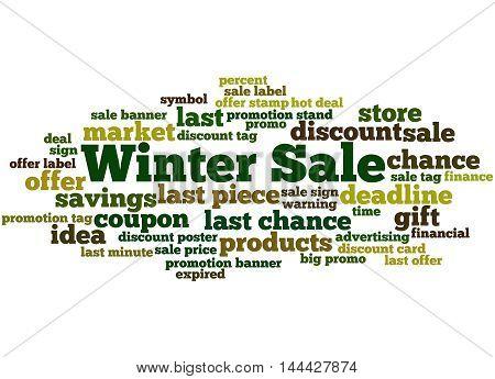 Winter Sale, Word Cloud Concept 7