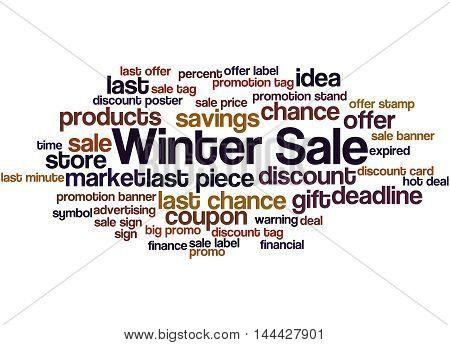 Winter Sale, Word Cloud Concept 8
